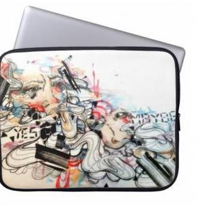Pop surreal art laptop sleeve. 15 i..