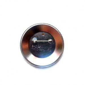 Art pin back button. Abstract portr..